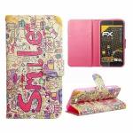 Schutzhülle Muster 60 für Wiko Lenny Bookcover Tasche Hülle Wallet Case Flip Neu