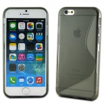 Silikoncase S-Line Design Case Grau Hülle Cover Zubehör für Apple iPhone 6 4.7