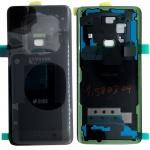 Samsung GH82-15875A Akkudeckel Deckel für Galaxy S9 Duos + Klebepad Schwarz Neu