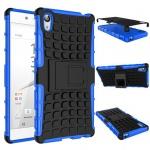 Hybrid Case 2teilig Outdoor Blau Tasche Hülle für Sony Xperia Z5 Premium 5.5 Neu