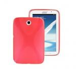 Schutzhülle X-Line Rot Tasche für Samsung Galaxy Note 8.0 N5100 N5110 + Folie