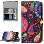 Schutzhülle Muster 8 für Huawei Ascend Y625 Bookcover Tasche Hülle Wallet Case
