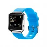 Kunststoff Silikon Uhr Armband für Fitbit Blaze Watch Hell Blau Zubehör 17-20 cm