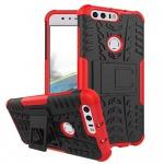 Hybrid Case 2teilig Outdoor Rot für Huawei Honor 8 Tasche Hülle Cover Neu Etui