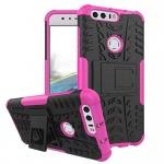 Hybrid Case 2teilig Outdoor Pink für Huawei Honor 8 Tasche Hülle Cover Neu Etui