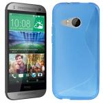 Silikonhülle Design S-Line Blau Hülle Case Cover für HTC One Mini 2 M5 2014 Neu