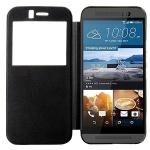 Smartcover Window Schwarz für HTC One 3 M9 Tasche Cover Case Hülle Etui Zubehör