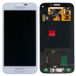 Full Display LCD Komplettset GH97-16147B Weiß für Samsung Galaxy S5 Mini G800F