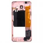 Mittelrahmen Rahmen Kamera Glas Gehäuse für Samsung Galaxy A5 2016 Speaker Pink