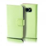 Schutzhülle Grün für Wiko Sunset 2 Bookcover Tasche Hülle Wallet Case Flip Etui