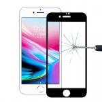 Premium 0, 3 mm gebogenes H9 Hartglas Schwarz Folie für Apple iPhone 8 4.7 Neu