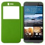 Smartcover Window Grün für HTC One 3 M9 Tasche Cover Case Hülle Etui Zubehör Neu