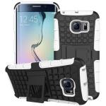 Hybrid Case 2 teilig Robot Weiss für Samsung Galaxy S6 Edge G925 G925F Hülle Neu