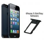 Sim Karten Halter Sim Tray Sim Zubehör Nano Holder für Apple iPhone 5 Schwarz
