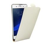Fliptasche Deluxe Weiß für Sony Xperia Z3 Plus + E6553 Dual Tasche Case Hülle