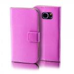 Schutzhülle Pink für Wiko Lenny 2 Bookcover Tasche Hülle Wallet Case Flip Schutz