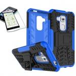 Hybrid Case Tasche Outdoor 2teilig Blau für Huawei Nova Plus + Panzerglas Cover