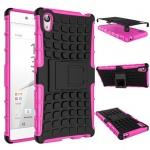 Hybrid Case 2teilig Outdoor Pink Tasche Hülle für Sony Xperia Z5 Premium 5.5 Neu