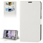 Schutzhülle Weiß für Huawei Ascend Mate 2 4G Bookcover Tasche Hülle Wallet