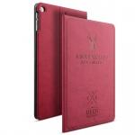 Design Tasche Backcase Smartcover Pink für Apple iPad Air 1 / Air 2 Hülle Case