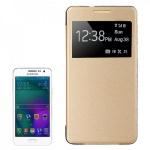 Smartcover Window Gold für Samsung Galaxy A5 A500 A500F Cover Tasche Hülle Case