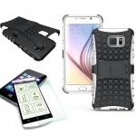 Hybrid Case Tasche 2teilig Weiß für Samsung Galaxy Note 5 SM-N920 F + Panzerglas