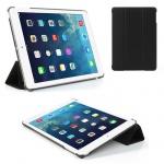 Deluxe Smartcover Schutz Case Etui Zubehör für Apple iPad Air Case Hülle schwarz