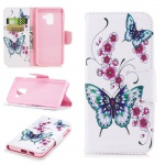 Tasche Wallet Premium Motiv 22 für Samsung Galaxy A8 2018 A530F Hülle Case Etui