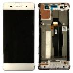 Sony Display LCD Komplett mit Rahmen für Xperia XA F3111 F3112 Weiß Ersatzteil