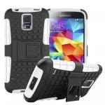 Hybrid Case 2teilig Outdoor Weiß Tasche Hülle für Samsung Galaxy S5 Neo G903F