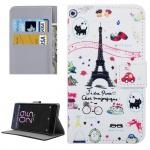 Tasche Wallet Premium Muster 16 für Sony Xperia X 5 Zoll F5121 Bookcover Hülle
