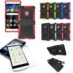 Hybrid Case Tasche Outdoor 2teilig Rot für Huawei P9 Lite + Panzerglas Cover Neu