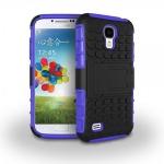 Hybrid Hülle 2 teilig Outdoor Lila Tasche für Samsung Galaxy S4 i9500 i9505 Case