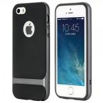 Original ROCK Silikon Case Schwarz / Grau für Apple iPhone 5 5S Hülle Tasche Neu