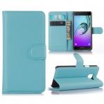 Schutzhülle Blau für Samsung Galaxy A3 2016 A310F Tasche Hülle Wallet Case Etui