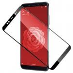 Für Xiaomi MI A2 / MI 6X 3D Premium 0, 3 mm H9 Hart Glas Schwarz Folie Schutz