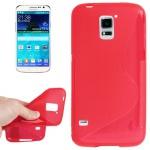 Design Hülle Schutz TPU für Samsung Galaxy S5 Mini G800 Cover Case rot Kappe