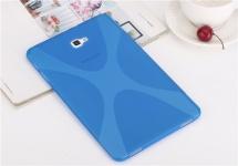 Für Samsung Galaxy Tab A 10.1 T580 / T585 Silikonhülle Blau Tasche Case Cover
