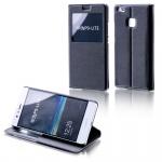 Booktasche Flip Window Schwarz für Huawei Nova 5.0 Tasche Cover Hülle Case Etui