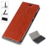 Flip / Smart Cover Braun für Samsung Galaxy S9 G960F Schutz Etui Tasche Hülle