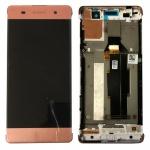 Sony Display LCD Komplett mit Rahmen für Xperia XA F3111 F3112 Rose-Gold Ersatz