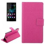 Schutzhülle Pink für Wiko Ridge 4G Cover Bookcover Tasche Hülle Wallet Case Flip