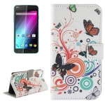 Schutzhülle Muster 2 für Wiko Lenny 2 Bookcover Tasche Hülle Wallet Case Flip