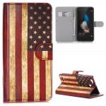 Schutzhülle Muster 10 für Huawei P9 Bookcover Tasche Case Hülle Wallet Etui Neu