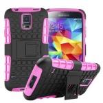 Hybrid Case 2teilig Outdoor Pink Tasche Hülle für Samsung Galaxy S5 Neo G903F