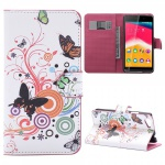 Schutzhülle Muster 2 für Wiko Rainbow Jam Bookcover Tasche Hülle Wallet Case Neu