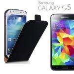 Fliptasche Deluxe Schwarz für Samsung Galaxy S5 Mini G800 G800F Tasche Hülle Neu