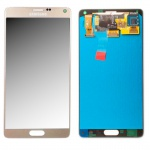 Display LCD Komplettset GH97-16565C Gold für Samsung Galaxy Note 4 N910F Ersatz