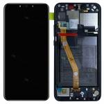 Huawei Display LCD Rahmen für P Smart Plus Service 02352BUE Schwarz Batterie Neu