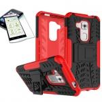 Hybrid Case Tasche Outdoor 2teilig Rot für Huawei Nova Plus + Panzerglas Cover